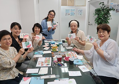 2018年7月7日 ともえみ七夕フェア   絵手紙で暑中見舞いを書きましょう♪~右脳を動かして、脳力アップ!~